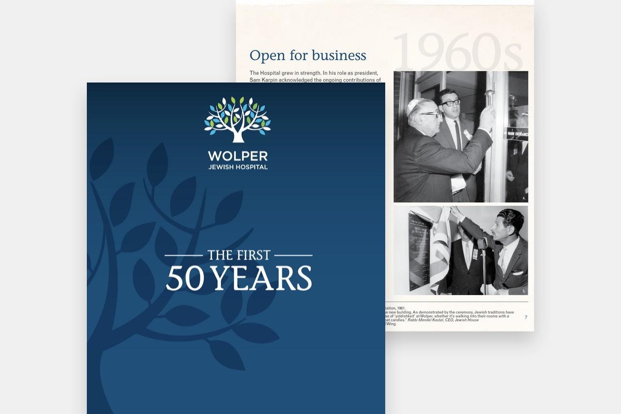 Wolper Jewish Hospital - History