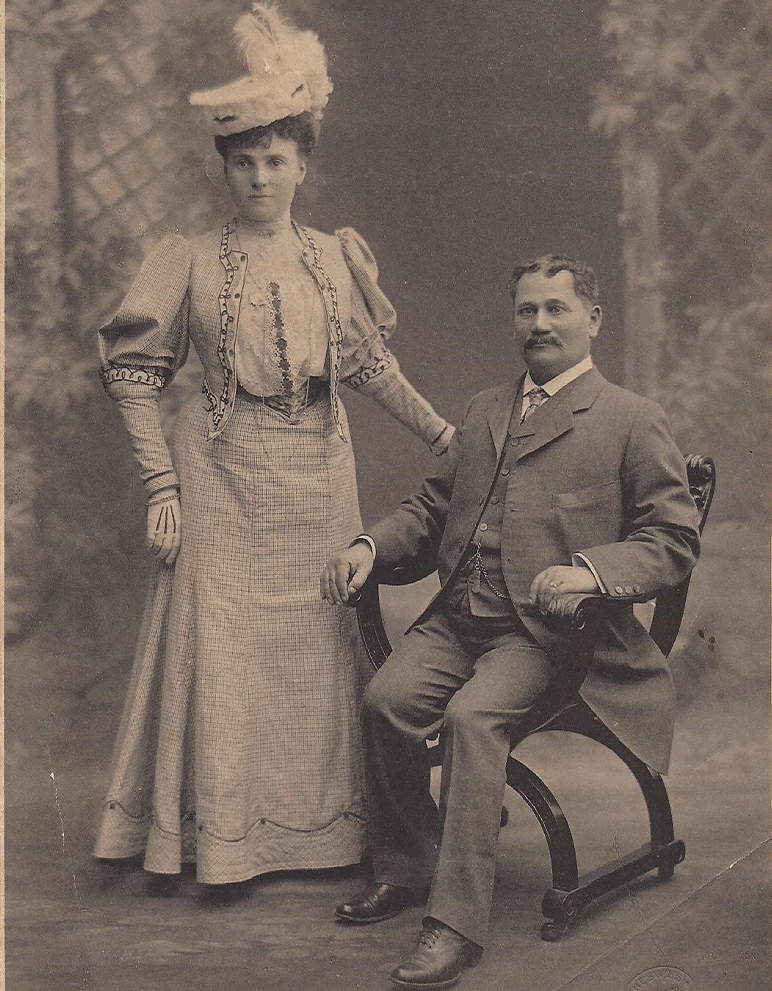 Gertie with her first husband Aaron Wolper in Sydney, 1899